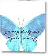 Go Fly Quote Metal Print