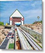 Goat Island Boat House Metal Print