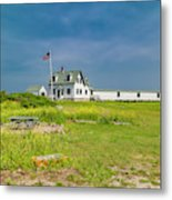 Goat Island Lighthouse Vibrant Day Landscape  Metal Print