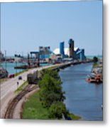 Goderich Harbour And Maitland Valley Marina Metal Print
