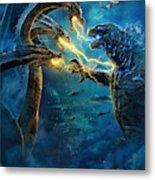 Godzilla II Rei Dos Monstros Metal Print