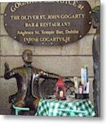 Gogarty And Joyce Statues One Metal Print