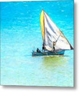 Going For Fish Metal Print