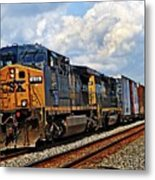 Going On A Train Ride Metal Print