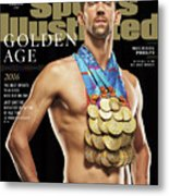 Golden Age Michael Phelps Sports Illustrated Cover Metal Print
