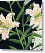 Golden-banded Lily - Digital Remastered Edition Metal Print