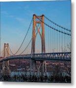 Golden Hour At Mid-hudson Bridge Metal Print