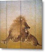 Golden Lion - Original Color Edition Metal Print