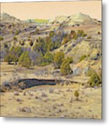 Golden Prairie Realm Reverie Metal Print
