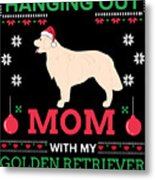 Golden Retriever Ugly Christmas Sweater Xmas Gift Metal Print