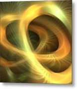 Golden Rings Metal Print