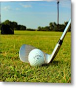 Golf Day Metal Print