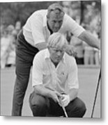 Golf Professionals Nicklaus And Palmer Metal Print