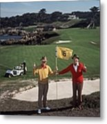 Golfing Pals Metal Print