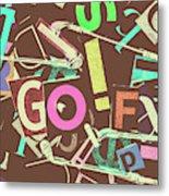 Golfing Print Press Metal Print