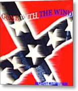 Gone With The Wind Minimalism Book Cover Art Metal Print