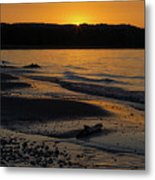 Good Harbor Bay Sunset Metal Print