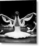 Gorgeous Ballerina Repeating Movements Metal Print