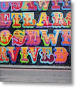 Graffiti Mural Metal Print