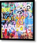 Graffitis Triptych Metal Print