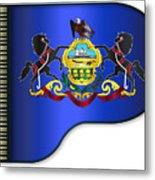Grand Pennsylvania Flag Metal Print