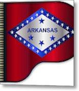 Grand Piano Arkansas Flag Metal Print