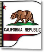 Grand Piano California Flag Metal Print