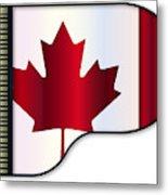 Grand Piano Canadian Flag Metal Print