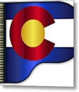 Grand Piano Colorado Flag Metal Print