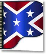 Grand Piano Confederate Flag Metal Print