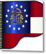 Grand Piano Georgia Flag Metal Print