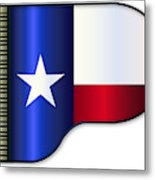 Grand Piano Texas Flag Metal Print
