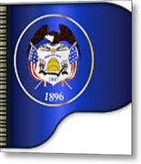 Grand Piano Utah Flag Metal Print
