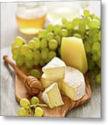Grape, Honey And Cheese Metal Print
