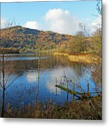Grasmere In Late Autumn In Lake District National Park Cumbria Metal Print