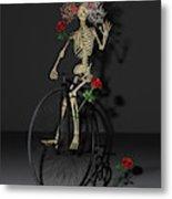 Grateful Penny Farthing Skeleton Metal Print