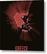 Greece Radiant Map 3 Metal Print