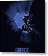 Greece Radiant Map II Metal Print