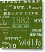 Green 1982 Original Metal Print