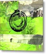 Green Balance No. 4 Metal Print