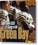 Green Bay Packers, 1996 Nfl Football Preview Issue Sports Illustrated Cover Metal Print