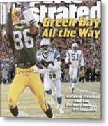 Green Bay Packers Antonio Freeman, 1997 Nfc Championship Sports Illustrated Cover Metal Print