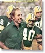 Green Bay Packers Coach Bart Starr Sports Illustrated Cover Metal Print