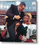 Green Bay Packers Coach Vince Lombardi, Super Bowl II Sports Illustrated Cover Metal Print
