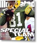 Green Bay Packers Desmond Howard, Super Bowl Xxxi Sports Illustrated Cover Metal Print