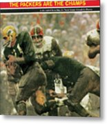 Green Bay Packers Jimmy Taylor, 1966 Nfl Championship Sports Illustrated Cover Metal Print