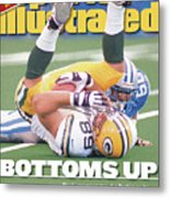 Green Bay Packers Mark Chmura... Sports Illustrated Cover Metal Print