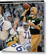 Green Bay Packers Qb Bart Starr, 1967 Nfl Championship Sports Illustrated Cover Metal Print