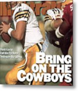 Green Bay Packers Qb Brett Favre, 1996 Nfc Divisional Sports Illustrated Cover Metal Print