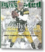 Green Bay Packers Qb Brett Favre, 2008 Nfc Divisional Sports Illustrated Cover Metal Print